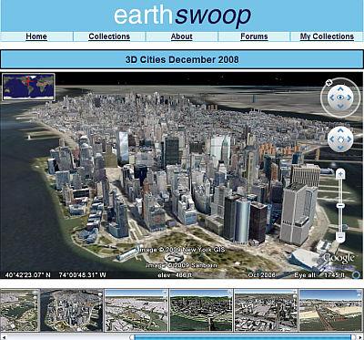 EarthSwoop of 3D Cities in Google Earth