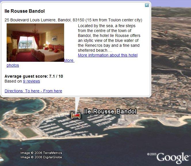 Bookings in Google Earth