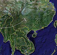 Steve Fossett Global Flyer in Google Earth