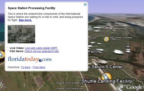 Kennedy Space Center in Google Earth