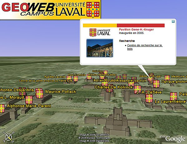 Laval University in Google Earth