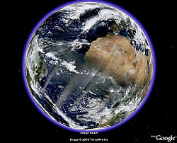 Daily Planet Imagery by NASA in Google Earth
