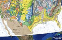 Geologic Map of the US in Google Earth