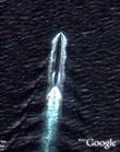Submarine near China in Google Earth
