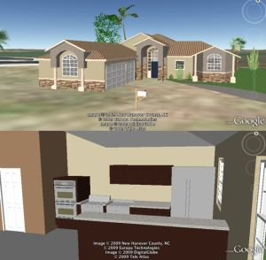 Example 3D house for Google Earth