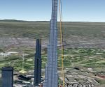 Burj Dubai in 3D in Google Earth