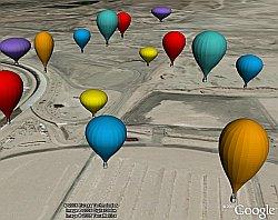 Balloon Festival 3D models in Google Earth
