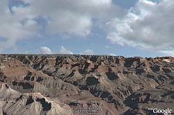 Skydome clouds over Grand Canyon in Google Earth