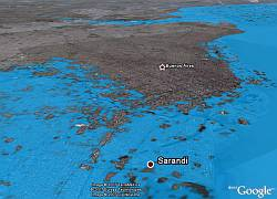 Rising seas in Buenos Aires in Google Earth