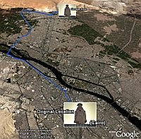Ramses II move route in Google Earth