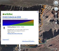 WikiLoc layer in Google Earth