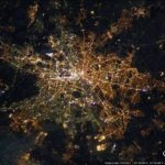 The Berlin divide as seen from space