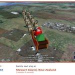 Tracking Santa's journey in Google Earth