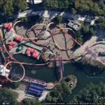The best roller coasters in Google Earth