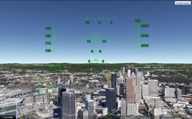 google earth flight simulator