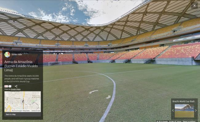 world cup stadiums in street view