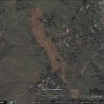 The Koslanda landslide in Google Earth