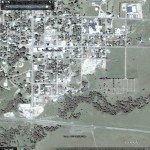 Tornado damage in Google Earth