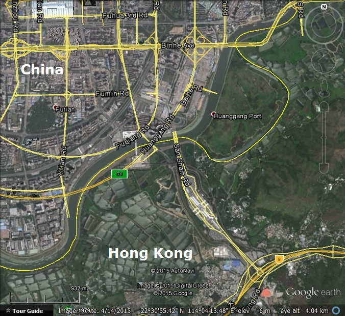 Chinese street maps out of alignment in Google Earth and Google Maps     The streets are out of alignment on the Chinese side  but correct on the  Hong Kong side  The satellite imagery matches the latitude