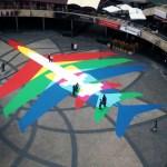 Google Earth 'Rainbow Planes' Inspire Art