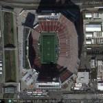 Super Bowl 50 in Google Earth