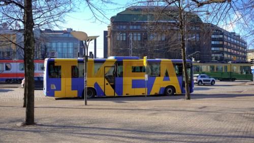 The IKEA Bus, the IKEA Bus.