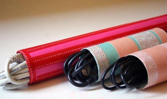 [DIY] Organiser ses câbles avec des rouleaux de papier toilette
