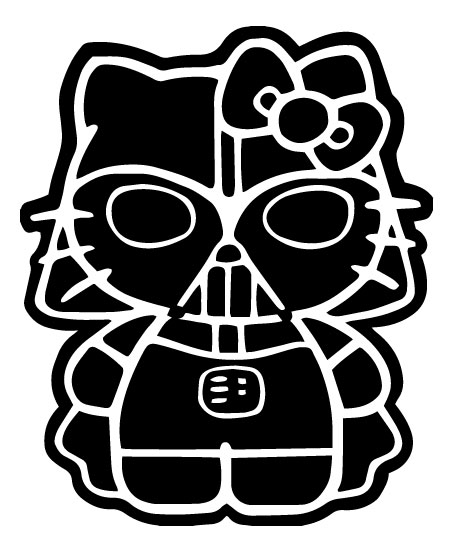 Geekcals hello kitty darth vader design your space - Dark vador hello kitty ...