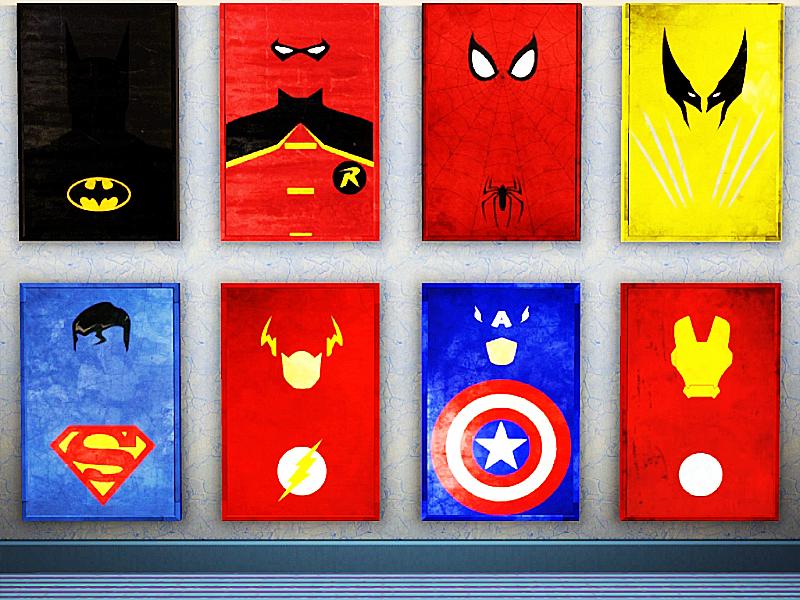 Minimalist Superhero Posters