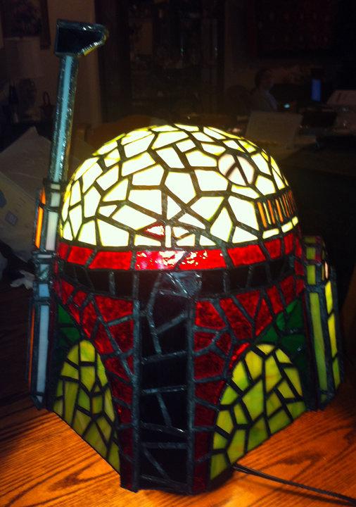 Boba Fett Tiffany Style Lamp 1