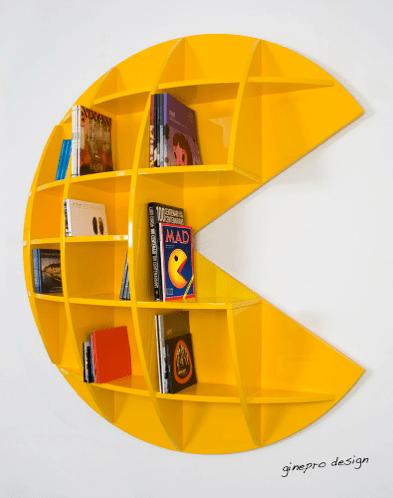 Great Pac Man Bookshelf Awesome Design