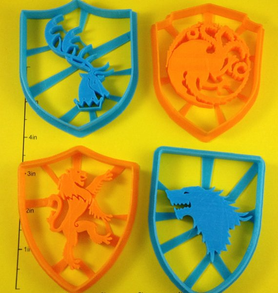 Game of Thrones Sigil Cookie Cutters 1