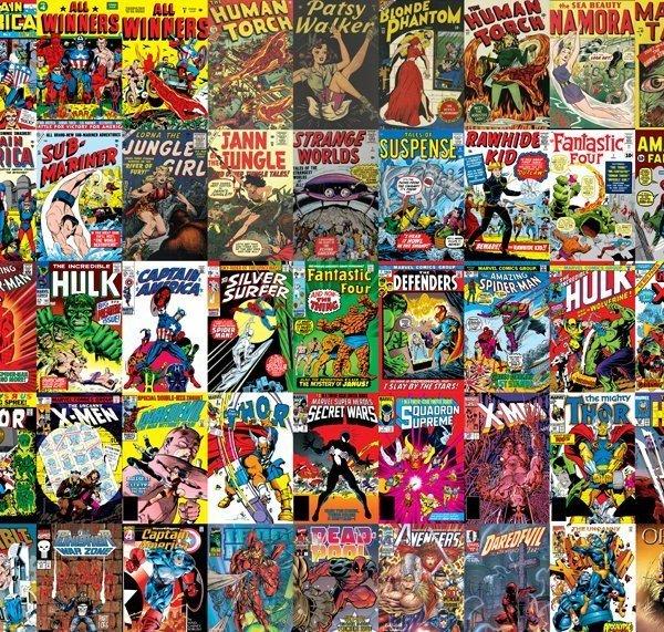 Marvel Wall Mural marvel comics wall mural | geek decor