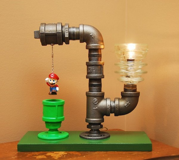 super mario bros pipe lamps geek decor. Black Bedroom Furniture Sets. Home Design Ideas