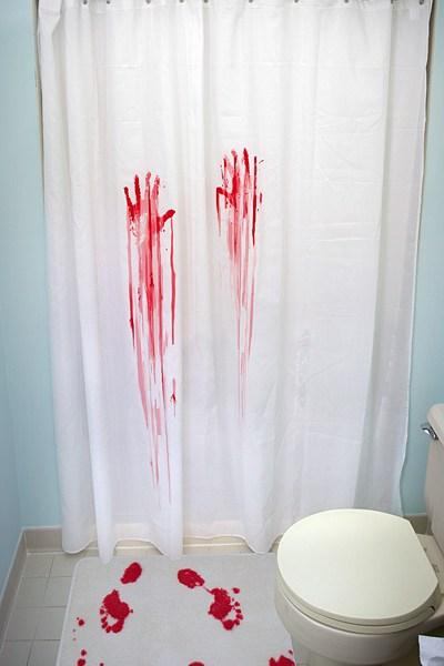 Horror Movie Shower Curtain and Bath Mat