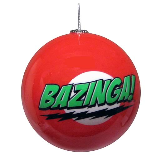 Big Bang Theory Bazinga Christmas Ball - Geek Decor