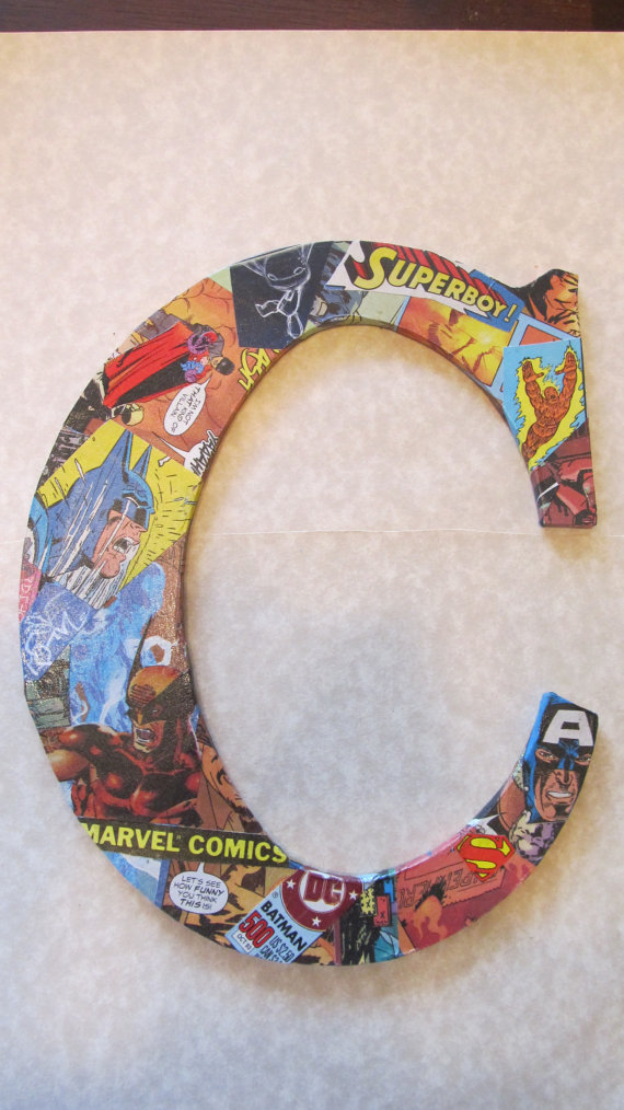 Comic Book Decorative Letter - Geek Decor