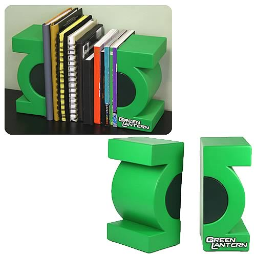 Green Lantern Bookends - Geek Decor