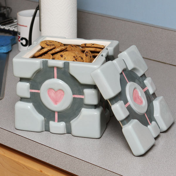 Portal Companion Cube Cookie Jar