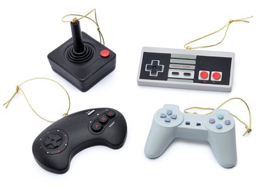 Retro Video Game Christmas Ornaments - Geek Decor
