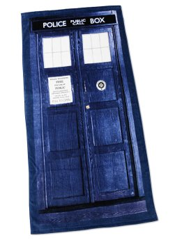 Doctor Who TARDIS Door Towel - Geek Decor