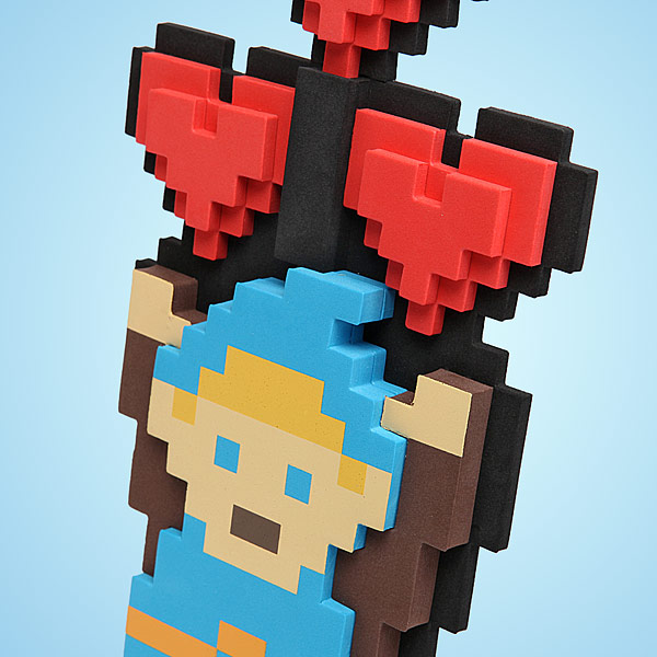 Legendary hero 8 bit heart bouquet geek decor for 8 bit decoration
