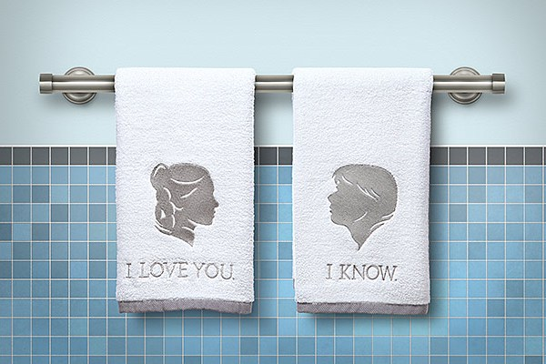 star wars han and leia bathroom hand towels geek decor - Bathroom Hand Towels