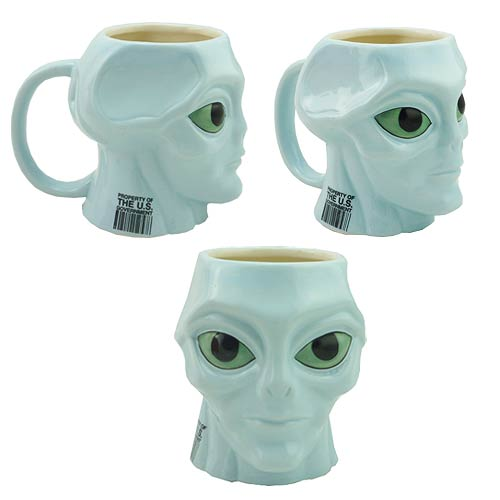 Blue Alien Mug - Geek Decor