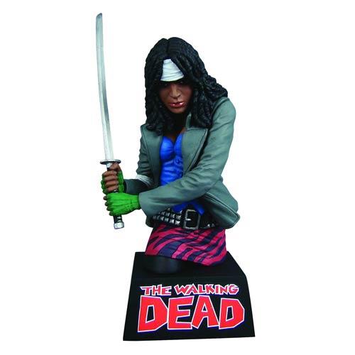 THE WALKING DEAD Michonne Bank Bust - Geek Decor