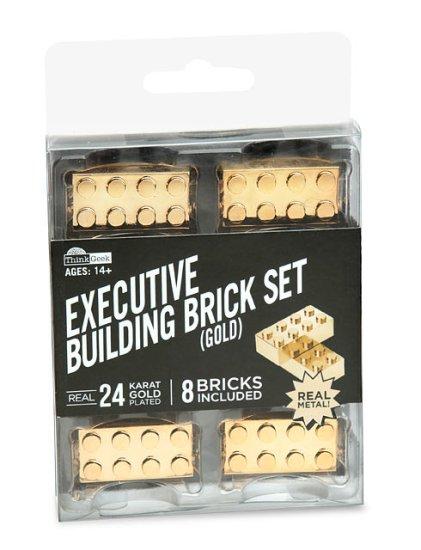 Gold Lego Set Packaged - Geek Decor