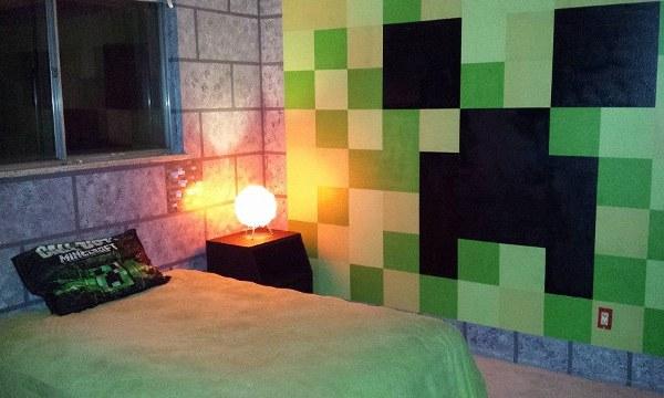 Minecraft Bedroom Broad View - Geek Decor