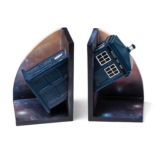 Doctor Who Bookends Alone - Geek Decor