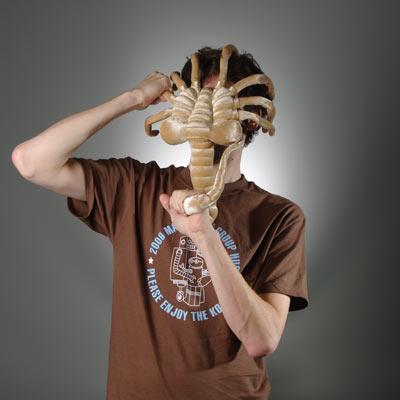 Alien Facehugger Plush On Face - Geek Decor