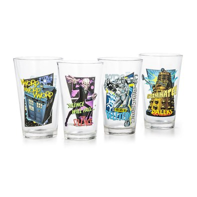 Doctor Who Pint Glasses